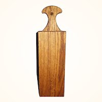 Oak Wood Long Stem Match Holder or Pipe Box  Wall Mount