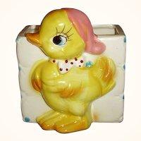 Yellow Duck Baby Nursery Planter - So Cute!