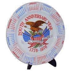 Bicentennial Plate USA 200th Anniversary 1776-1976 Red White Blue