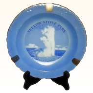 Old Faithful Yellow Stone Park Souvenir Ash Tray, Japan