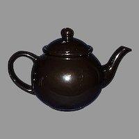 Black Porcelain Tea Pot ~ Made in Japan