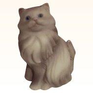 Avon Gray Persian Cat Figurine 1984