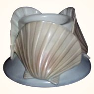 Pottery Sea Shells Candle Votive ~ Made in Japan