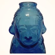 Wheaton Glass Blue George Washington Collector Bottle