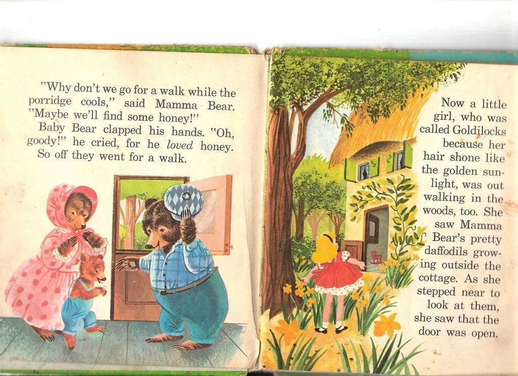 1950-60s Three Bears Childrens Book Top Top Tales Whitman Publishing : Romancing The Past | Ruby