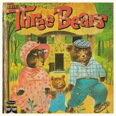 1950-60s Three Bears Childrens Book Top Top Tales Whitman Publishing