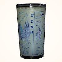 Utah Souvenir Beverage Glass The Beehive State