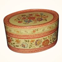 Avon Natural Blend Potpourri Box 1983 ~ Pretty Florals Oval Shape