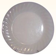 Fire King Ivory Swirl Dinner Plate 1949-1962