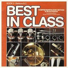 Baritone BC Musical Instrument Instruction Music Book 1983