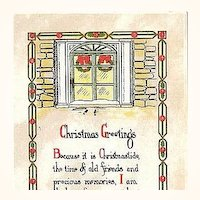 1917 Embossed Christmas Postcard