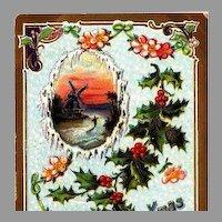 1911 Embossed Christmas Post Card ~ Germany Trademark 2085