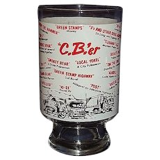1970s CB Radio Beer Glass with CB'er Trucker Jargon