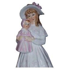 "Gorham Bone China Maruri 19th Century ""Young Lady with her Doll""  Figurine"