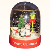 Christmas Snow Globe Snow Dome ~ MIB 1991