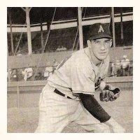 Jack Crimian Kansas City Athletics Baseball Player ~ 1956 B&W Signed Photo