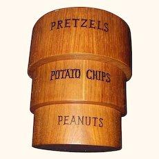 Viking Hand Made Teak Wood Snack Bowl Set for Pretzels, Potato Chips and Peanuts