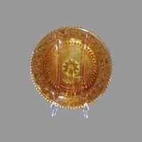 "Tiara Crystal Sandwich Amber Collection 3-Section Relish Dish 12-1/8"" Diameter"