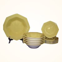 Nikko Japan Classic Collection Daffodil Vegetable Bowl, 5 Cereal Bowls and 6 Saucers