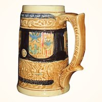Vintage Beer Stein Coat of Arms Enesco Japan