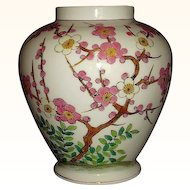 Norleans Pink Dogwood Tree Ginger Jar Porcelain Vase Japan
