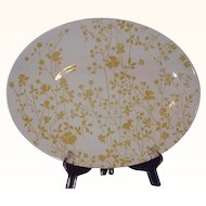 Sheffield Ironstone Platter Golden Meadow Large Oval 13 inches Made in USA
