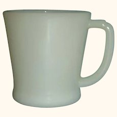 Fire King Ivory D Handle Coffee Mug Made 1948 to 1957