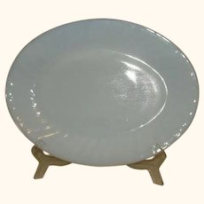 Fire King Azurite Swirl Oven Glass Oval Platter Made 1949 TO 1962.