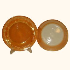 Fire King Peach Lustre Laurel Rim Soup Bowls Made 1951 to 1960