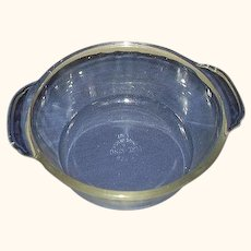 Fire King Clear 1 Quart Casserole Baking Dish 1942-1945