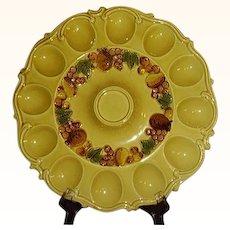 Lefton Exclusives Deviled Egg Platter Harvest Gold 4917 Japan