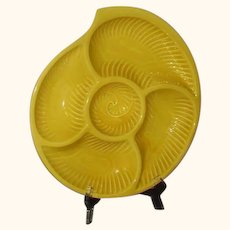 Sectional Server Large Conch Shell Japan