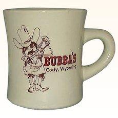 Bubba's Bar-B-Que Restaurant Ware Advertising Mug Cody Wyoming