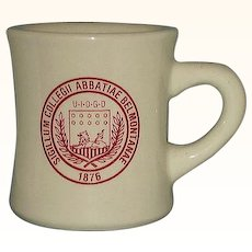 Belmont Abbey College Official 1876 Seal Restaurant Ware Advertising Mug Belmont NC