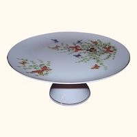 Shafford Ecstasy Butterflies Cake Stand Pedestal Cake Plate 1970s Japan