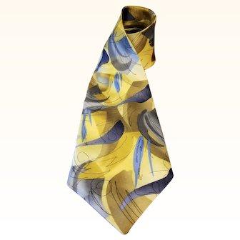 Jerry Garcia Silk Necktie - Duckworm Alarm - Collection 14 - Extra Long 63 inches