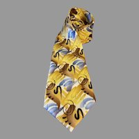 Jerry Garcia Silk Necktie Shaman Collection 52 Extra Long 63 inches