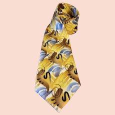 Jerry Garcia Silk Necktie Shaman Collection 52 Extra Long 63 inches