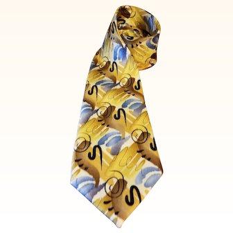 Jerry Garcia Silk Necktie - Shaman - Collection 52 - Extra Long 63 inches
