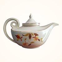 Hall Aladdin Tea Pot with Infuser Autumn Leaf Jewel Tea