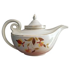 Hall Aladdin Tea Pot with Infuser Autumn Leaf Jewel Tea