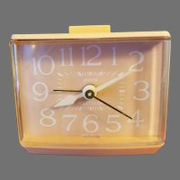 Westclox Pink Electric Softee Drowse Dialite Alarm Clock Made in USA Model 22254, 1970-80s Works Good