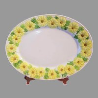 Oh Susanna Oval Serving Platter 14 inches Metlox Poppy Trail Vernon Discontinued 1978