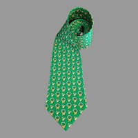 Christmas Necktie Roundtree Yorke Holiday Collection Colorful Wreaths 59 inches Korea