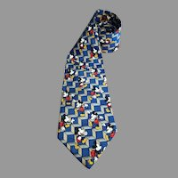 Mickey Mouse Disney Necktie Imported Polyester 56 inches USA