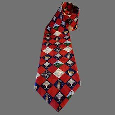 Tabasco Pepper Sauce Golf Necktie Imported Silk Jacquard 58 inches USA