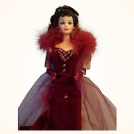 Scarlett O'Hara Barbie Doll in Gone With the Wind Red Velvet Gown Mattel 1994