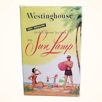 Westinghouse Sun Lamp Replacement Bulb Type RS 275 Watts Original Box Great Advertising Graphics 1960s