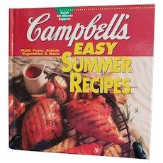 Campbells Easy Summer Cookbook 1995 Hardcover Quick 30 Minute Supper Recipes