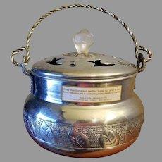 Incense Burner or Censer Hammered Aluminum Made in India